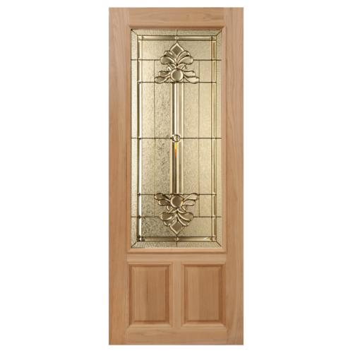MAZTERDOOR ประตูกระจกไม้นาตาเซีย ขนาด 100x200cm.  LOTUS-08