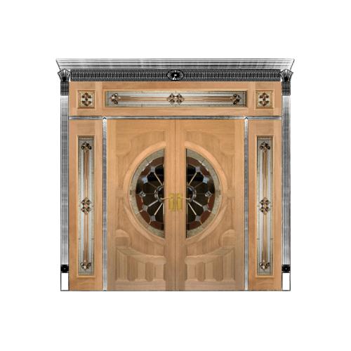 MAZTERDOOR SET 4 ประตูสยาแดง  ขนาด  240x265 cm. VANDA-04