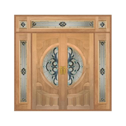 MAZTERDOOR ประตูไม้สยาแดง SET 4  ขนาด 240x265 (ทำสี)  VANDA-03