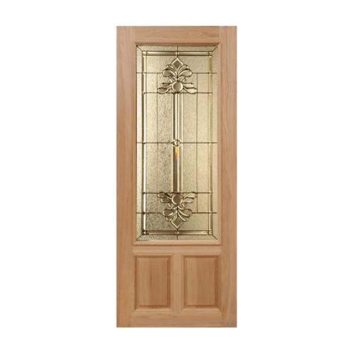 MAZTERDOOR ประตูกระจกสยาแดง  90x225cm.(สีขาว) LOTUS-08