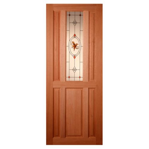 MAZTERDOOR ประตูกระจกไม้สัก  90x200cm. SS01/2