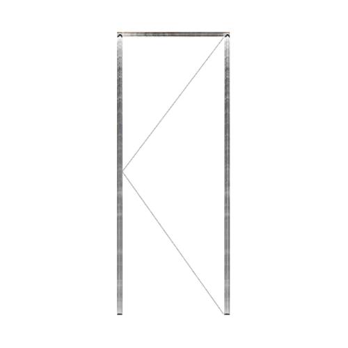 MAZTERDOOR วงกบประตูไม้เนื้อแข็ง SET  ขนาด160x240cm.