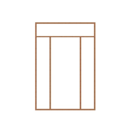 MAZTERDOOR วงกบประตูไม้เนื้อแข็ง SET6 ขนาด160x240cm. -