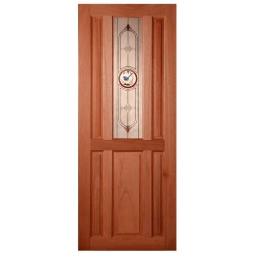 MAZTERDOOR ประตูกระจกสยาแดง(กระจกฝ้า) 80x200cm.  SS-01