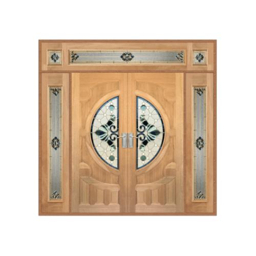 MAZTERDOOR SET 4 ประตูสยาแดง (ดอกไม้) 240x245cm. VANDA-08