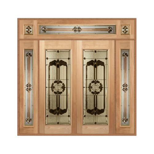 MAZTERDOOR SET 4 ประตูกระจกไม้นาตาเซีย  240x285 cm.  LOUTS-06
