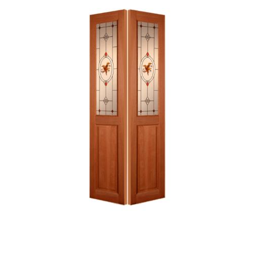 MAZTERDOOR ประตูกระจกไม้สยาแดง  60X210 cm. SL 01/2