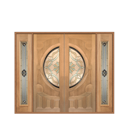 MAZTERDOOR SET 3 ประตูกระจกไม้จาปาการ์  240X200 cm. VANDA-02