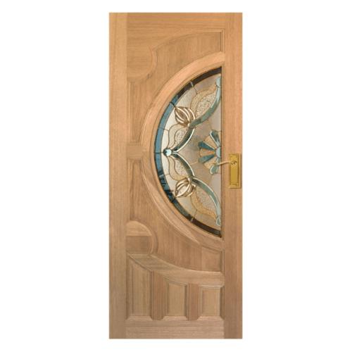 MAZTERDOOR ประตูกระจกไม้สยาแดง 90X190 cm.  VANDA-02