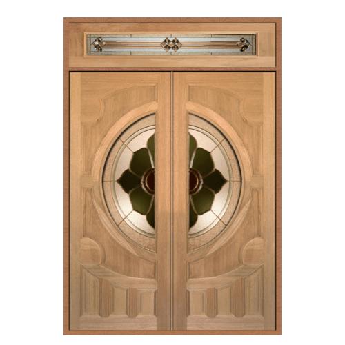 MAZTERDOOR SET 2 ประตูกระจกไม้สยาแดง  160X240 cm.(ทำสี) VANDA-07