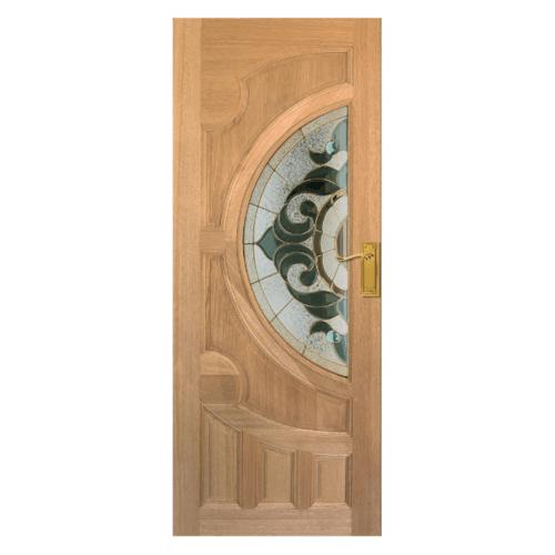 MAZTERDOOR ประตูกระจกไม้สยาแดง VANDA-01 80X205 cm. ประตูกระจกไม้สยาแดง VANDA-01 80X205 cm.