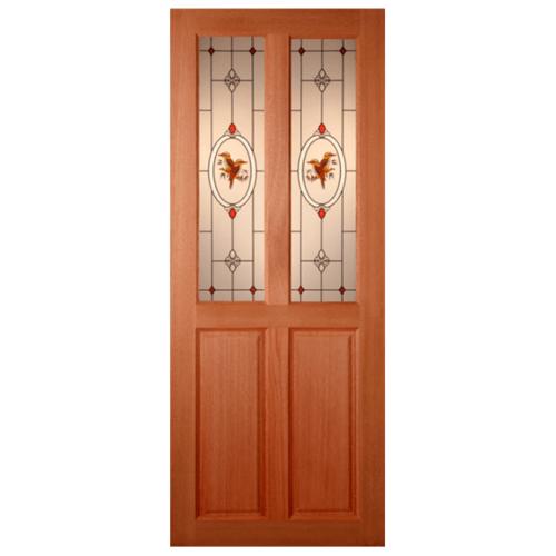 MAZTERDOOR ประตูกระจกไม้สยาแดง  80X190 cm. SS 02/2