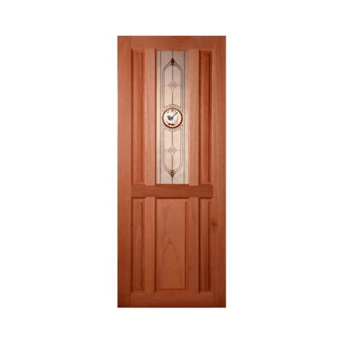 MAZTERDOOR ประตูกระจกไม้สยาแดง(เกล็ดล่าง) 80X200 cm.  SS01/1