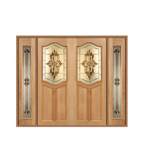 MAZTERDOOR SET 3 ประตูกระจกไม้สยาแดง 240X200 cm. GENUE-02