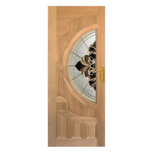 MAZTERDOOR ประตูกระจกไม้สยาแดง 70X200 cm.  VANDA-03