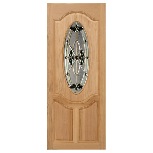 MAZTERDOOR ประตูกระจกไม้สยาแดง 70X200 cm.  ORCHID-08