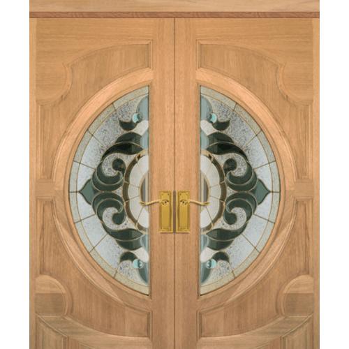 MAZTERDOOR SET 4 ประตูกระจกไม้สยาแดง  240X245 cm. VANDA-01