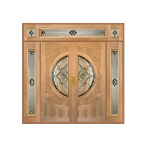 MAZTERDOOR SET 4 ประตูกระจกไม้สยาแดง 240X285 cm.  VANDA-02