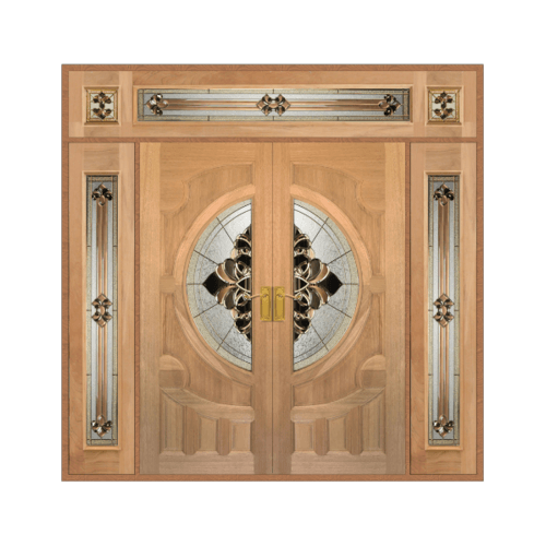 MAZTERDOOR SET 4 ประตูกระจกไม้สยาแดง  240X245 cm. VANDA-05