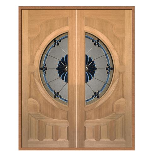 MAZTERDOOR SET 1 ประตูกระจกไม้สยาแดง 160X200 cm.(ทำสี) VANDA-06