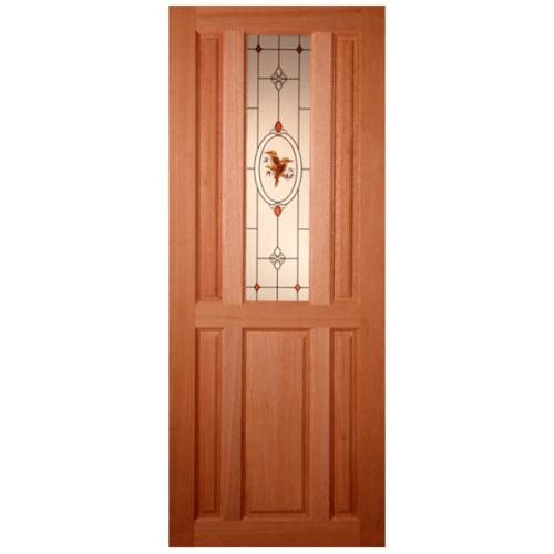 MAZTERDOOR ประตูกระจกไม้สยาแดง 90X180 cm.  SS1/2
