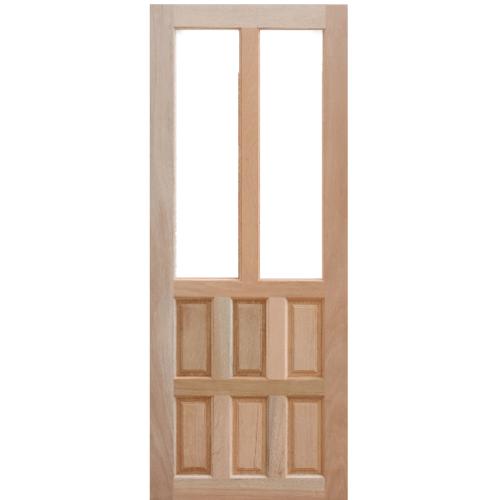 MAZTERDOOR ประตูกระจกไม้สยาแดง  80X200 cm.(กระจกใส)  MD-05/1