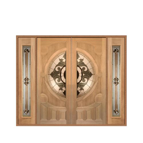 MAZTERDOOR SET 3 ประตูกระจกไม้นาตาเชีย  240X200 cm. VANDA-01