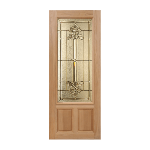MAZTERDOOR ประตูกระจกไม้สยาแดง  100X200 cm. LOTUS-08