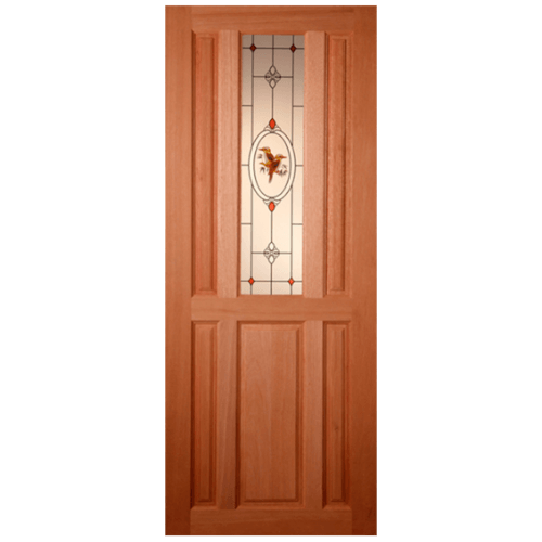 MAZTERDOOR ประตูกระจกไม้สยาแดง SS 1/2 80X195 cm.