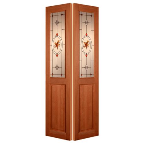 MAZTERDOOR ประตูกระจกไม้สยาแดง ขนาด 50X200 cm. SL 01/2