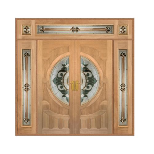 MAZTERDOOR SET 4 ประตูกระจกไม้สยาแดงทำสี 240X245 cm.  VANDA-01
