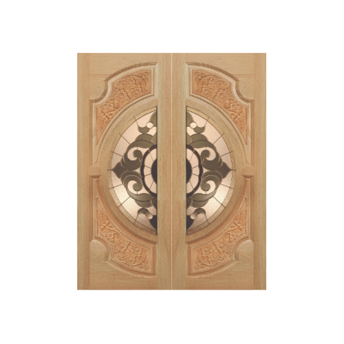 MAZTERDOOR ประตูกระจกสยาแดง(ดอกไม้ L)  80X200 cm. VANDA-01
