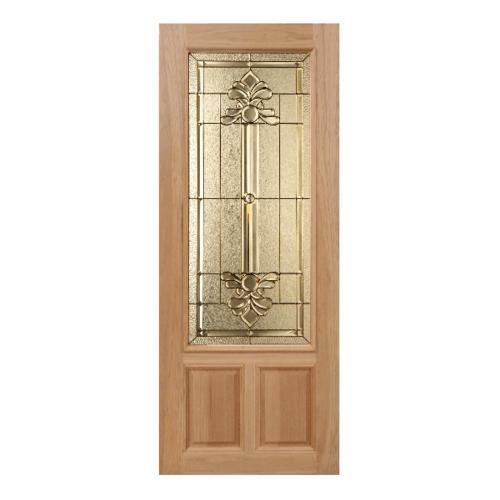 MAZTERDOOR SET 1 ประตูกระจกไม้สยาแดง  160x200 cm. LOTUS-08
