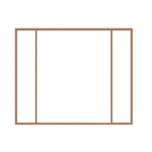 MAZTERDOOR วงกบประตูไม้เนื้อแข็ง ขนาด180x200 cm. SET 3