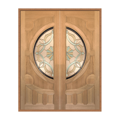 MAZTERDOOR SET 1 ประตูไม้สยาแดง 160x200 cm.(ทำสี)  VANDA-02