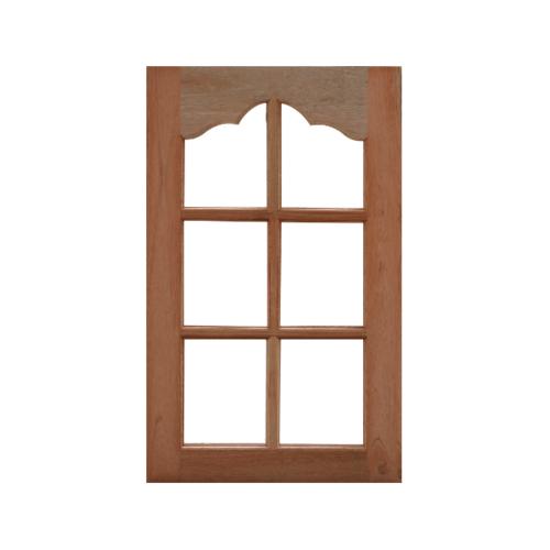 MAZTERDOOR หน้าต่างกระจกใสไม้สยาแดง  60x110 cm. WD-02