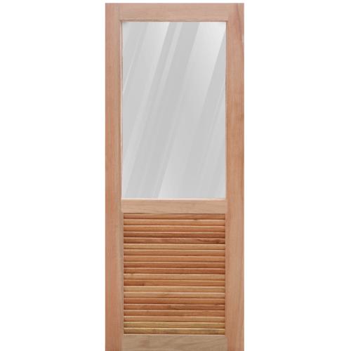 MAZTERDOOR ประตูกระจกไม้สยาแดง  80x200 cm. MD-08/1