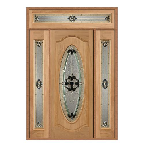 MAZTERDOOR SET 6 ประตูกระจกไม้สยาแดง ขนาด 170x240 cm. ORCHID-06