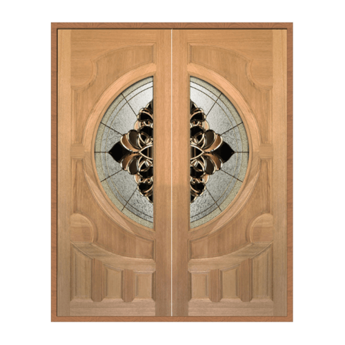 MAZTERDOOR SET 1 ประตูกระจกไม้สยาแดง ขนาด 160x200 cm.(ทำสี) VANDA-05