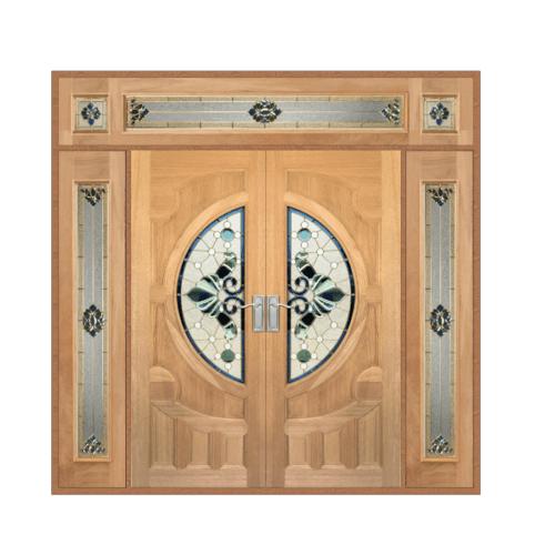 MAZTERDOOR SET 4 ประตูกระจกไม้สยาแดง  240x245 cm. VANDA-08