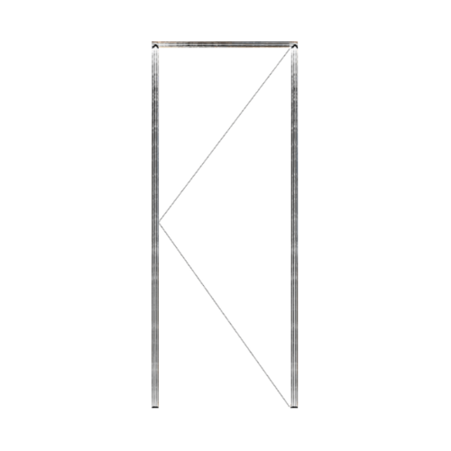 MAZTERDOOR วงกบประตูไม้เนื้อแข็ง ขนาด 90x260 cm.  SET 1