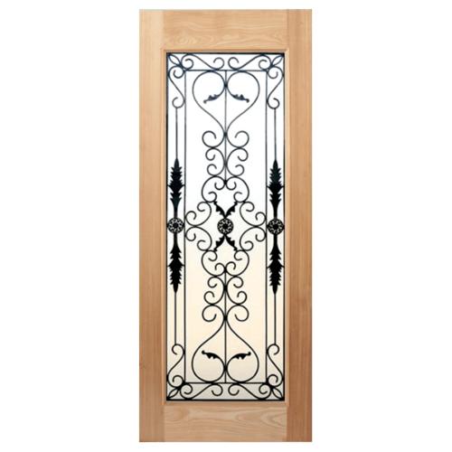 MAZTERDOOR SET 1 ประตูกระจกไม้สยาแดง ขนาด  80x200 cm.(บานเดี่ยว)  STMD-001