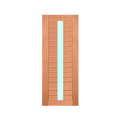 MAZTERDOOR ประตูไม้สยาแดงบานสไลด์ 90x205cm. SET C NW02/02