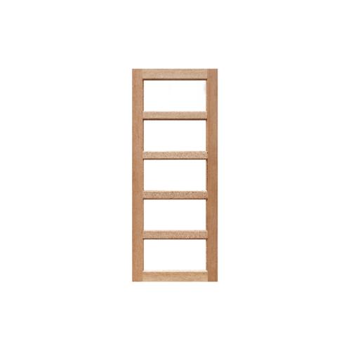 MAZTERDOOR ประตูไม้สยาแดงกระจกลายน้ำ 160X200cm.(ทำสี) SET1 MD 01/2