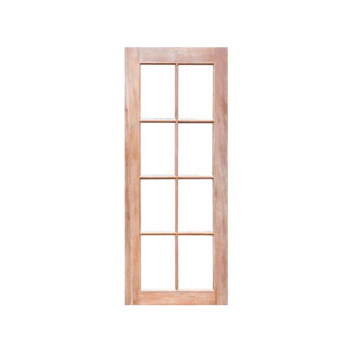 MAZTERDOOR ประตูไม้สยาแดงกระจกฝ้า 8 ช่อง 100x220cm. -