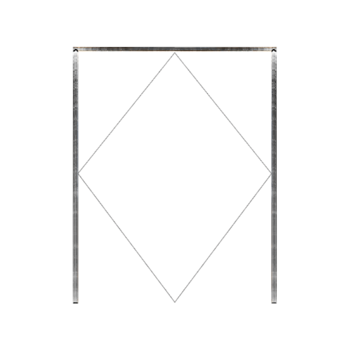 MAZTERDOOR วงกบประตูไม้เนื้อแข็ง  ขนาด120X200cm. SET 1
