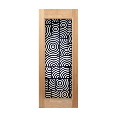 MAZTERDOOR ประตูไม้สยาแดงบานเฟียม ขนาด 160x200cm.  SL01/2
