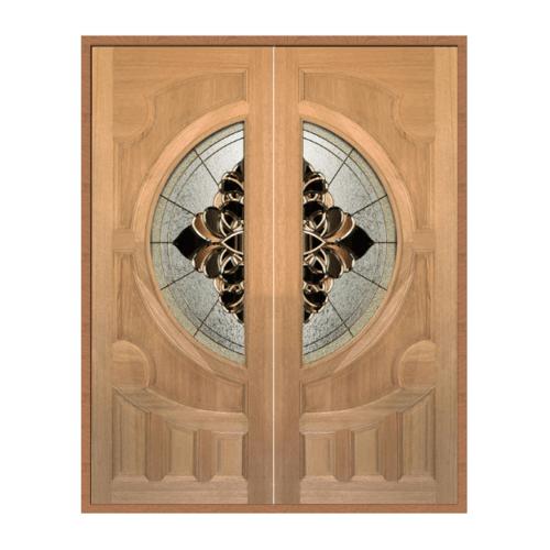 MAZTERDOOR  ประตูไม้สยาแดงกระจกSET 1ขนาด 180x200cm.  VANDA-05