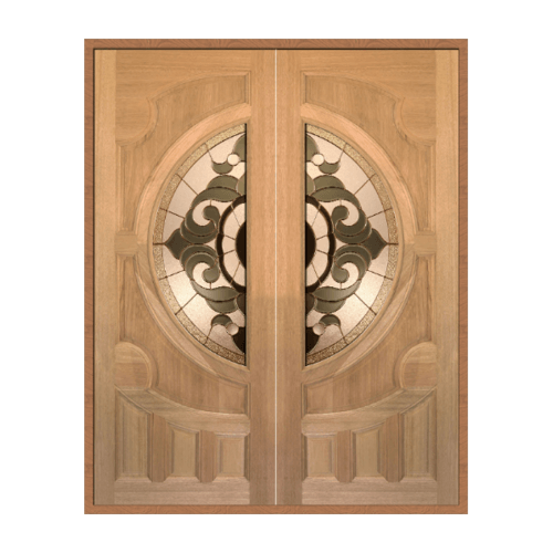 MAZTERDOOR ประตูไม้จาปาร์การ์ดอกไม้ L SET1 ขนาด 160X200cm.ทำสี VANDA-01