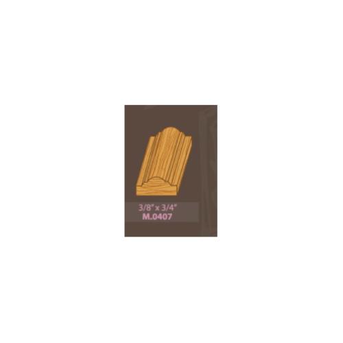 MAZTERDOOR ไม้คิ้วไม้เปอร์เชียจั่ว M.0407 3/4x3/8x2.50m. ไม้คิ้วไม้เปอร์เชียจั่ว M.0407 3/4x3/8x2.50m.